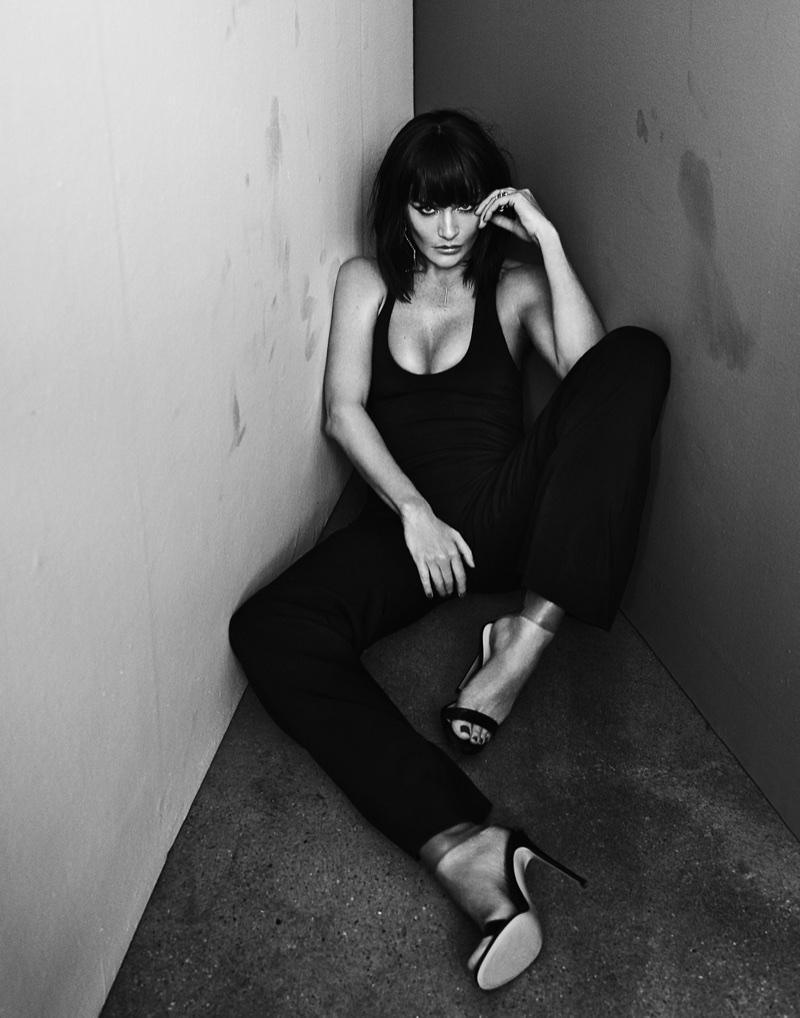 Helena Christensen Stuns in Black & White for SBJCT Journal