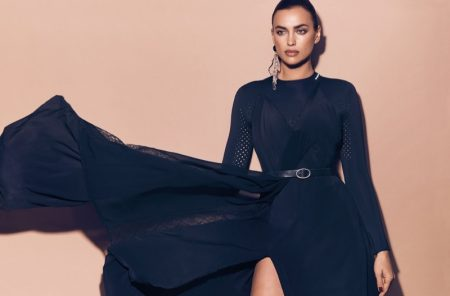 Irina Shayk Models Dark & Ladylike Styles for Vogue Arabia