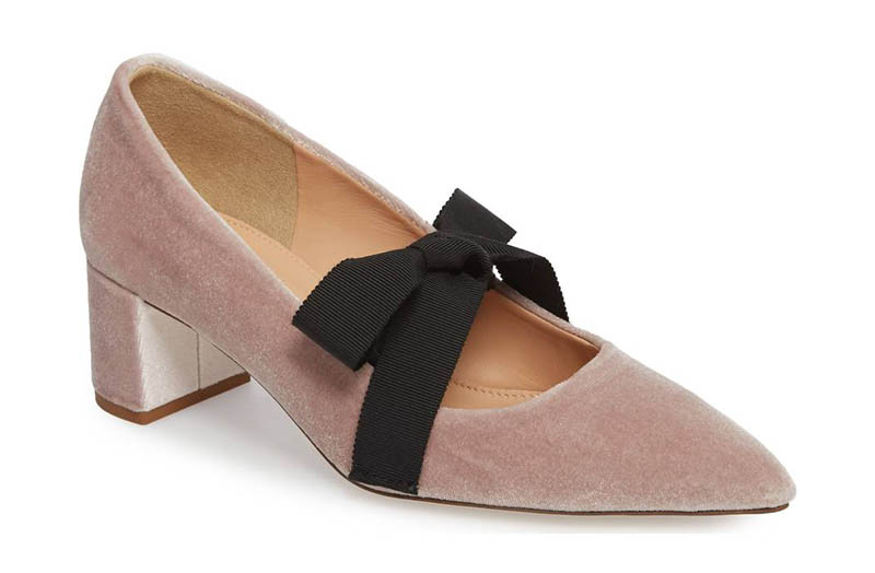 J. Crew Elwood Velvet Bow Pump $118.80 (previously $198)