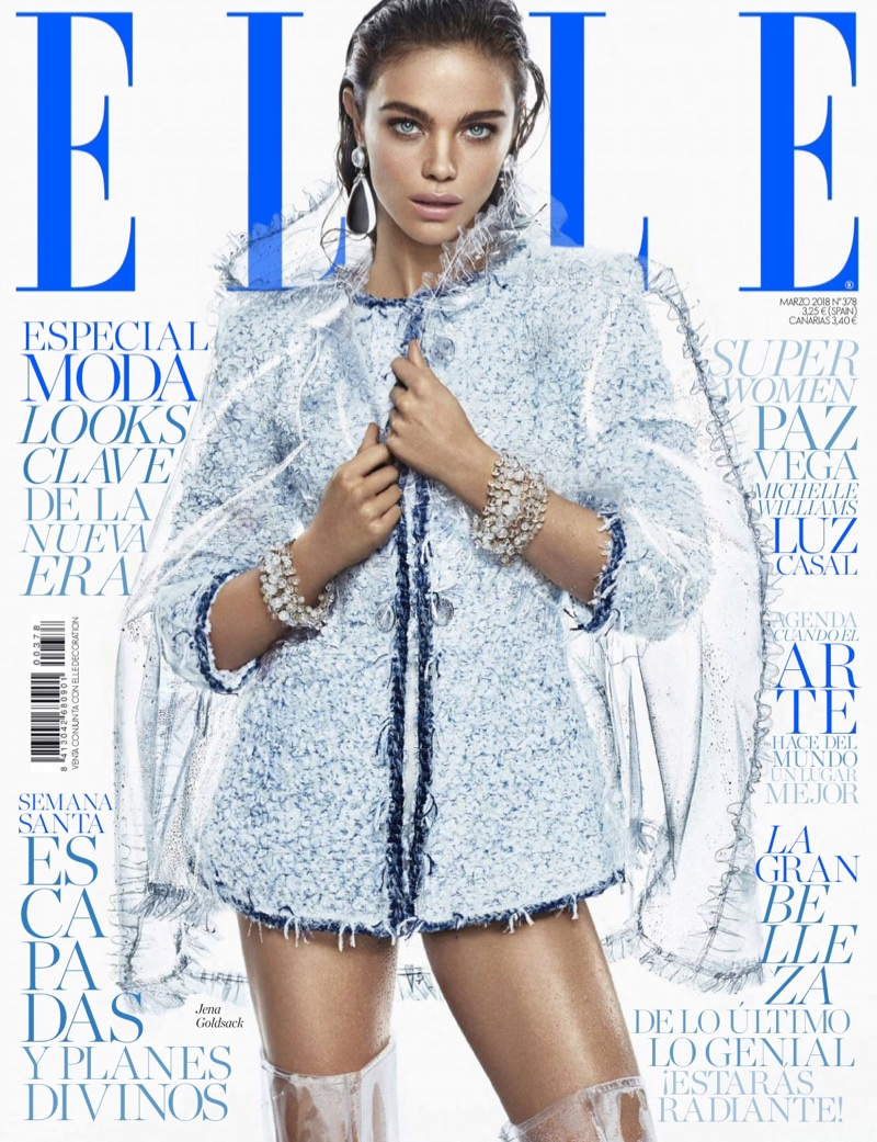 Jena Goldsack Takes On the Spring Collections for ELLE Spain