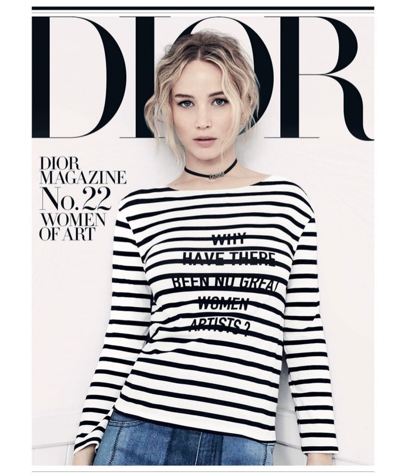 Jennifer Lawrence on Dior Magazine No. 22 Spring 2018 Cover