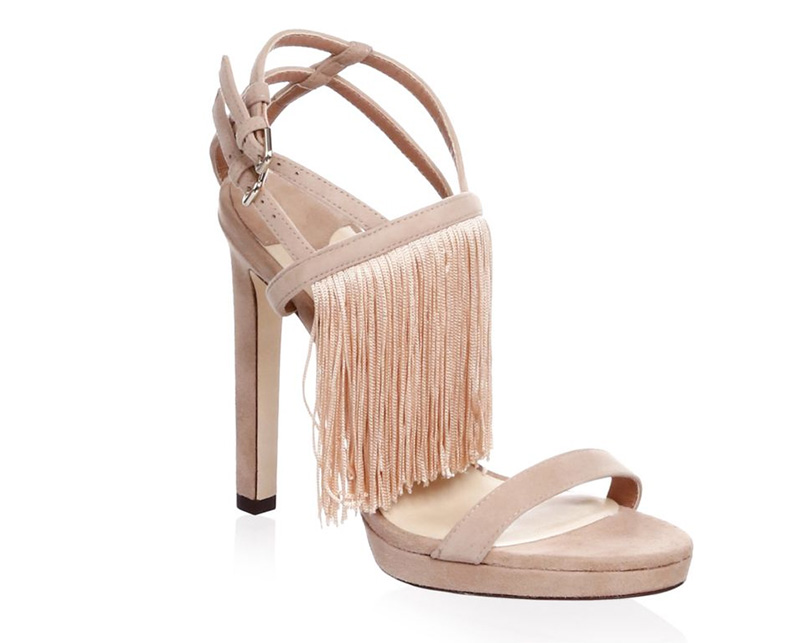 Jimmy Choo Fringe Suede Stiletto Sandals $895