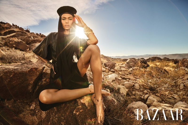 Joan Smalls Serves Glamazon Fashion for Harper's Bazaar Arabia