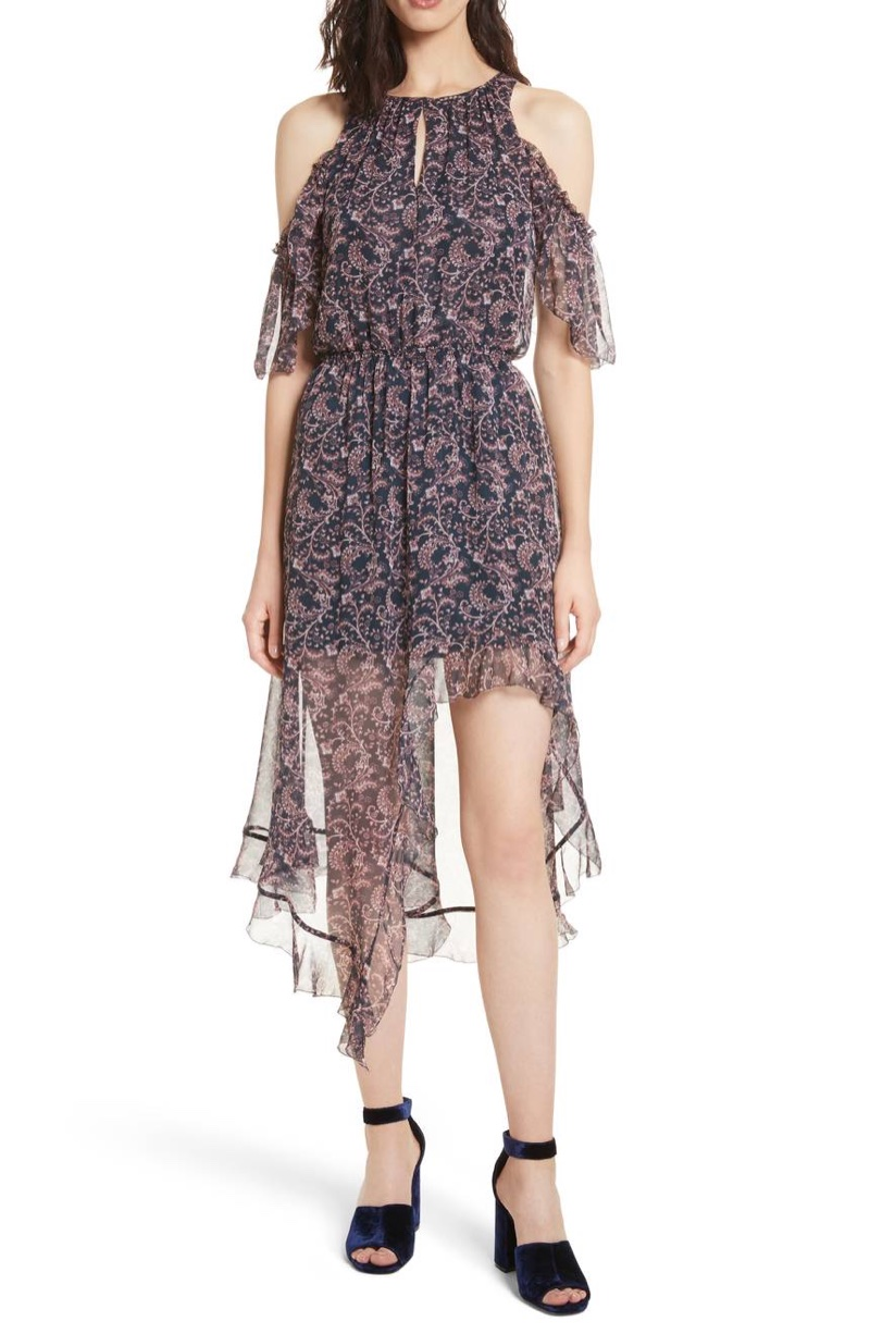 Joie Agnek Cold Shoulder Silk Dress $171.20 (previously $428)