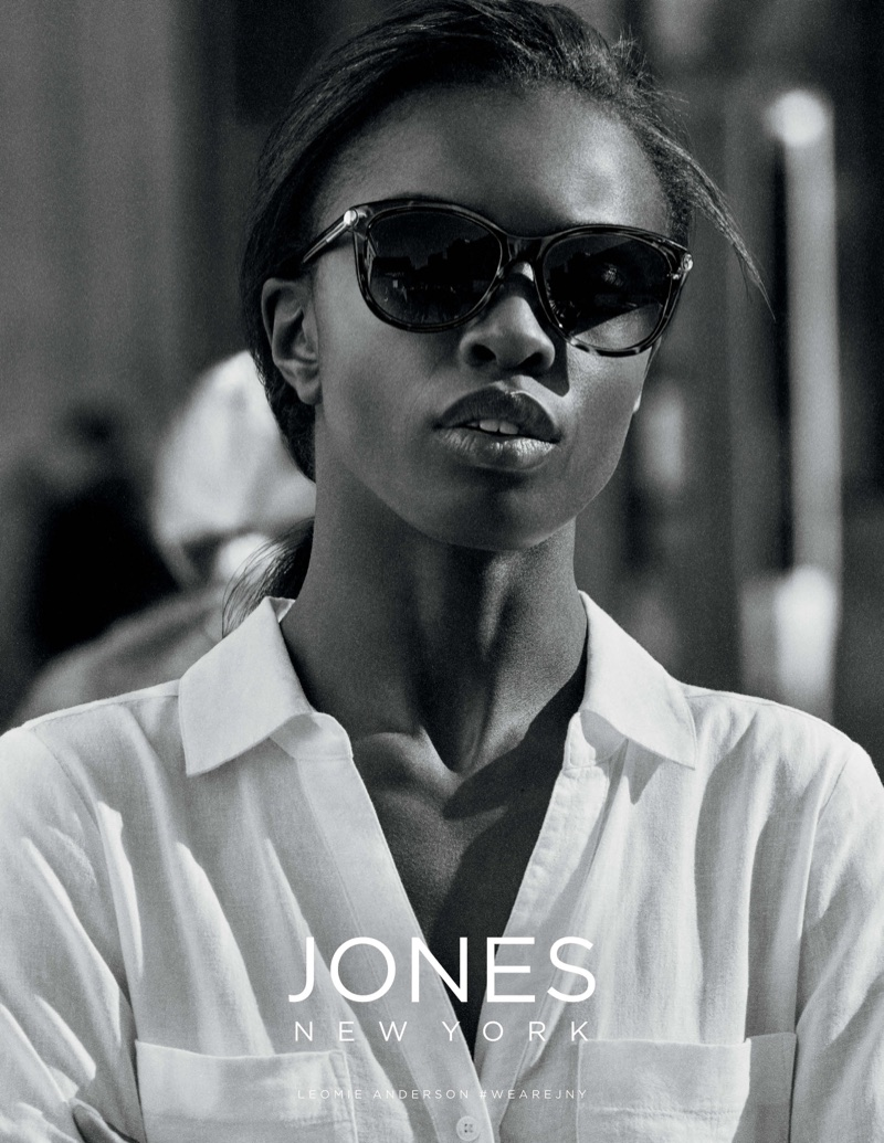 Leomie Anderson wears chic shades in Jones New York's spring-summer 2018 campaign