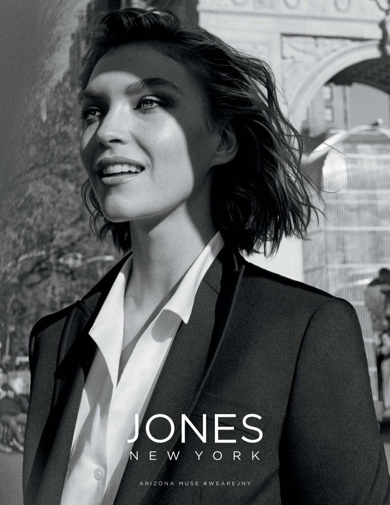 Arizona Muse suits up in Jones New York's spring-summer 2018 campaign