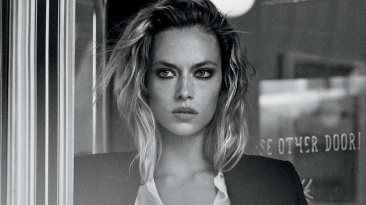 Hannah Ferguson suits up in Jones New York's spring-summer 2018 campaign