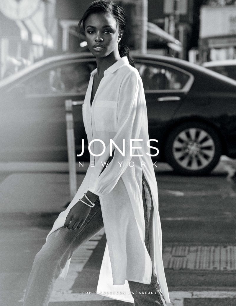Leomie Anderson stars in Jones New York's spring-summer 2018 campaign