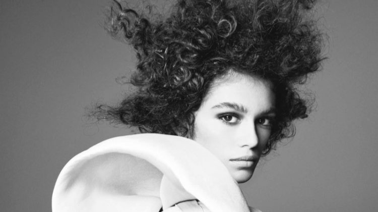 Kaia Gerber Stuns in Black & White Images for Vogue UK
