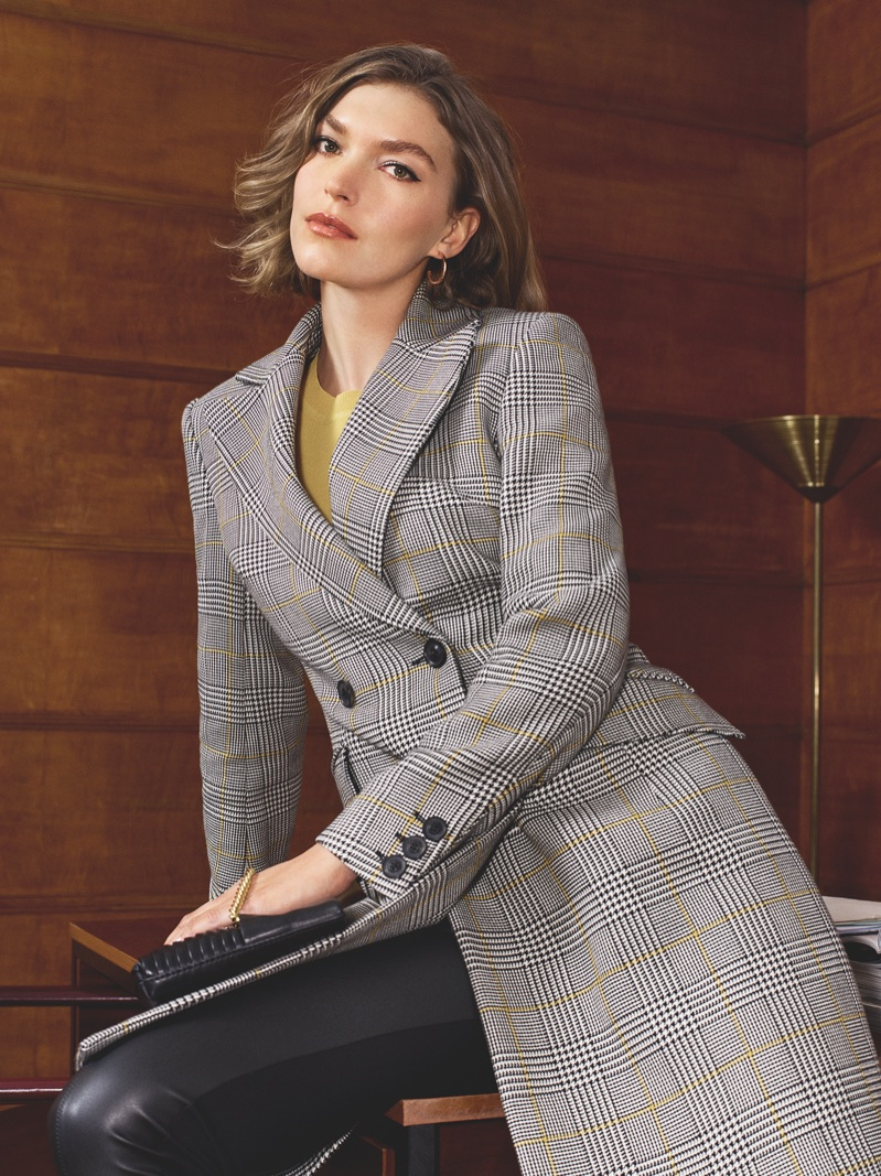 Arizona Muse suits up in Karen Milen's spring-summer 2018 campaign