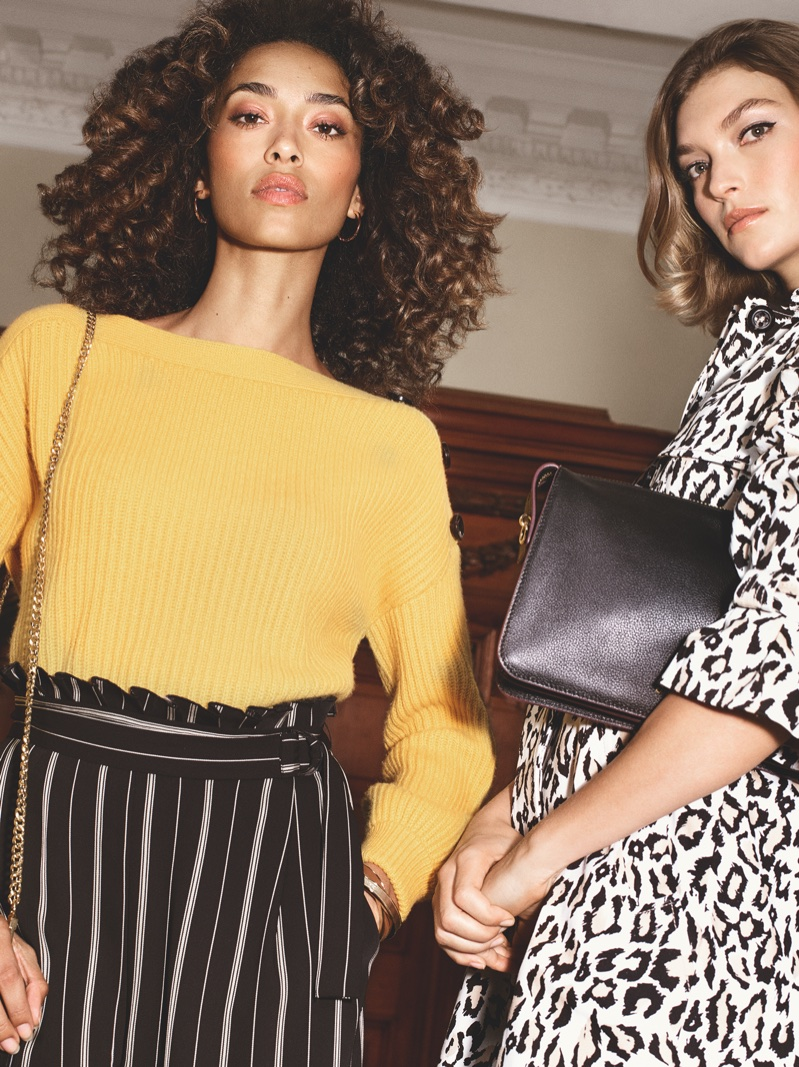 Anais Mali stands out in stripes for Karen Millen's spring-summer 2018 campaign