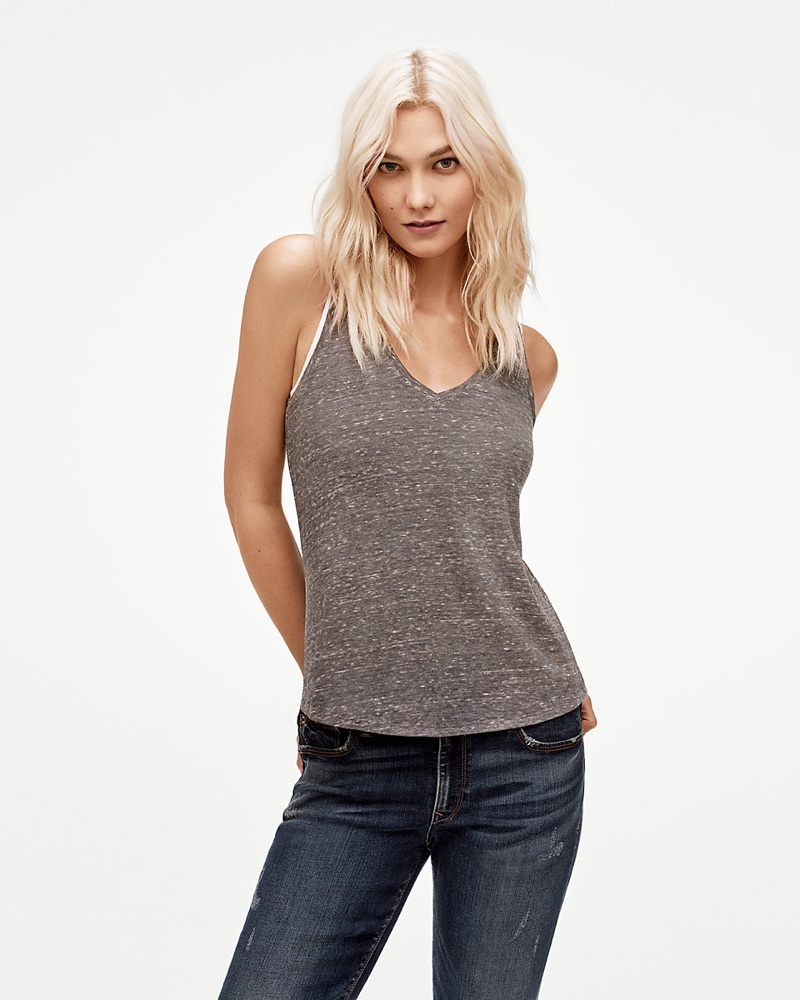 Express One Eleven V-Neck Easy Tank