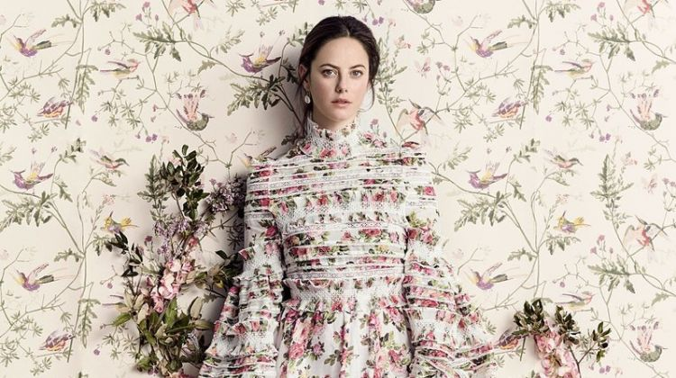 Kaya Scodelario Embraces Spring Blooms for Marie Claire UK