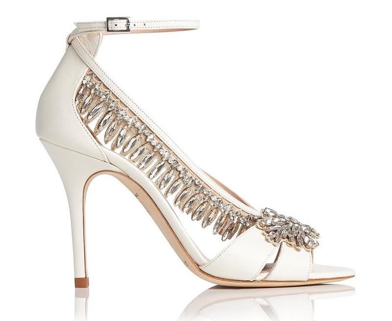 L.K. Bennett x Jenny Packham Dahlia Ivory Sandal $745