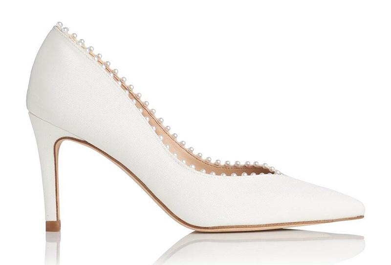 L.K. Bennett x Jenny Packham Fifi Ivory Embellished Heel $395