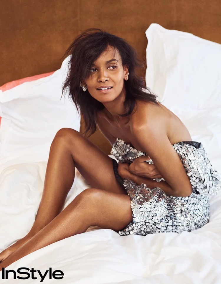 Liya Kebede Tries On Chic Metallic Fashions for InStyle