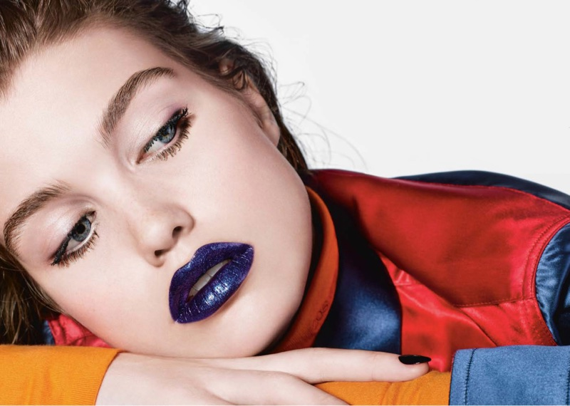Luna Bijl Wears Colorful Makeup Looks for Vogue Netherlands