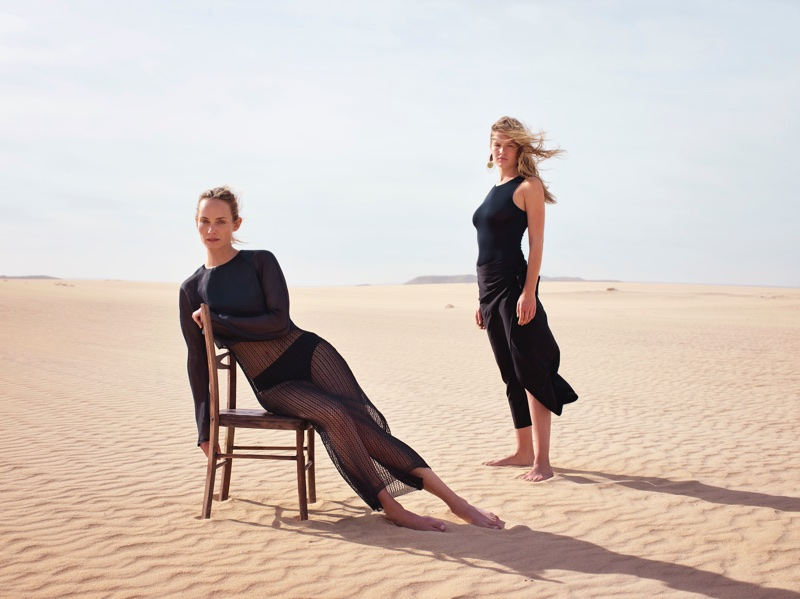 Amber Valletta and Anna Ewers front Mango's spring-summer 2018 campaign