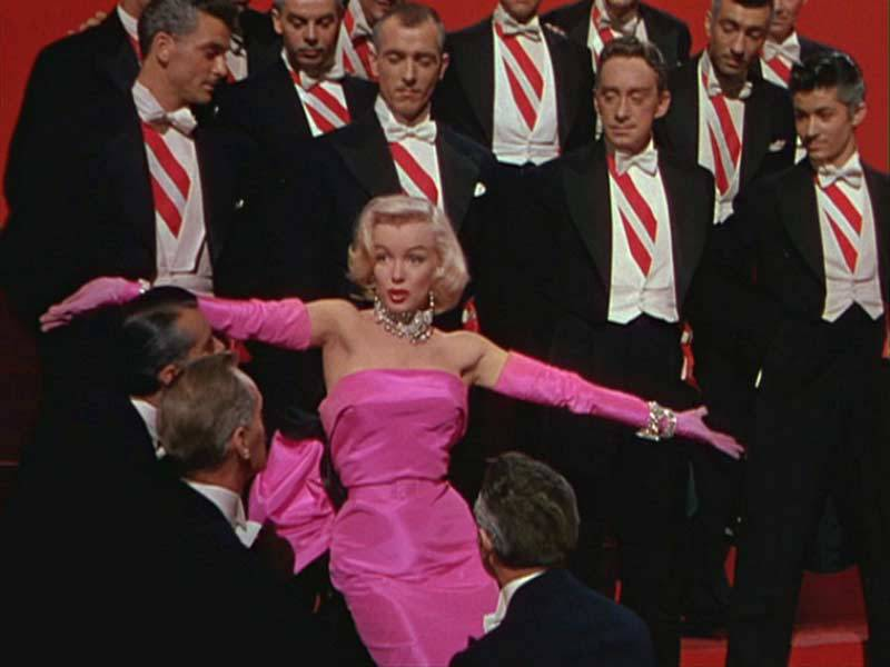 THE INSPIRATION: Marilyn Monroe wears a pink gown in 1953's 'Gentlemen Prefer Blondes'