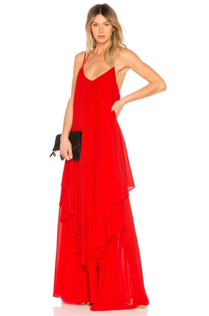 Michael Costello x REVOLVE Maren Gown in Red $328