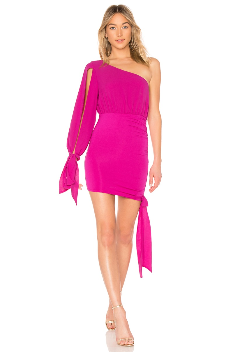 Michael Costello x REVOLVE Maybelline Mini Dress in Magenta $188