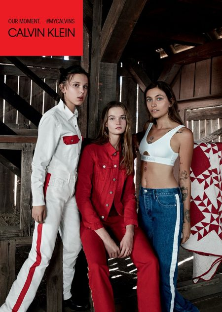 Millie Bobby Brown, Lulu Tenney and Paris Jackson front Calvin Klein Jeans spring-summer 2018 campaign