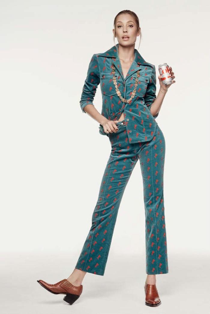 Nadja Bender Poses in 1970's Styles for Harper's Bazaar Turkey
