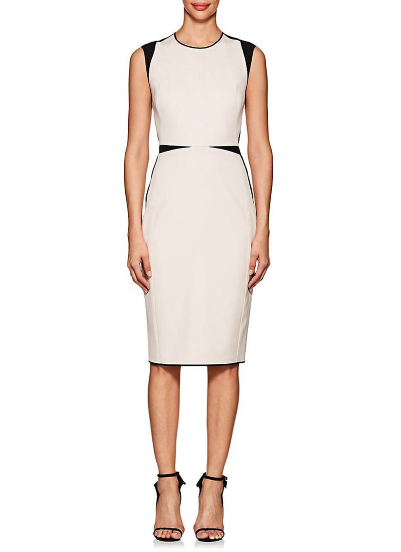 Narciso Rodriguez Colorblocked Wool Twill Sheath Dress $1,995