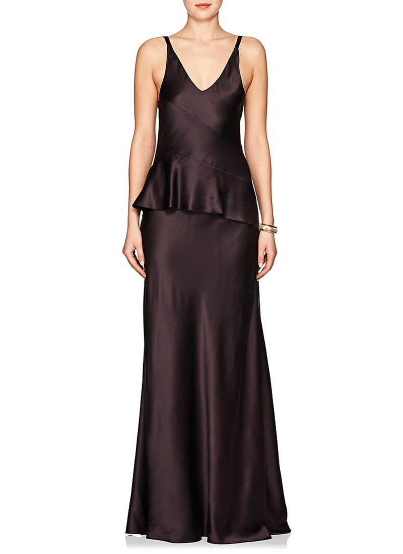 Narciso Rodriguez Silk Charmeuse Peplum Gown $2,995