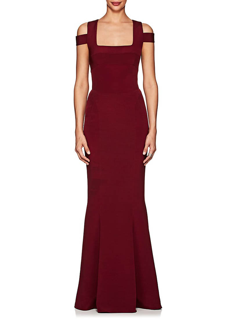 Narciso Rodriguez Stretch-Silk Crepe Open-Back Gown $3,495