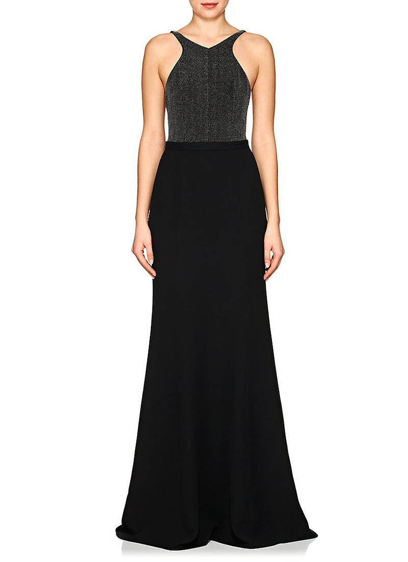 Narciso Rodriguez Studded Silk Crepe Gown $3,995