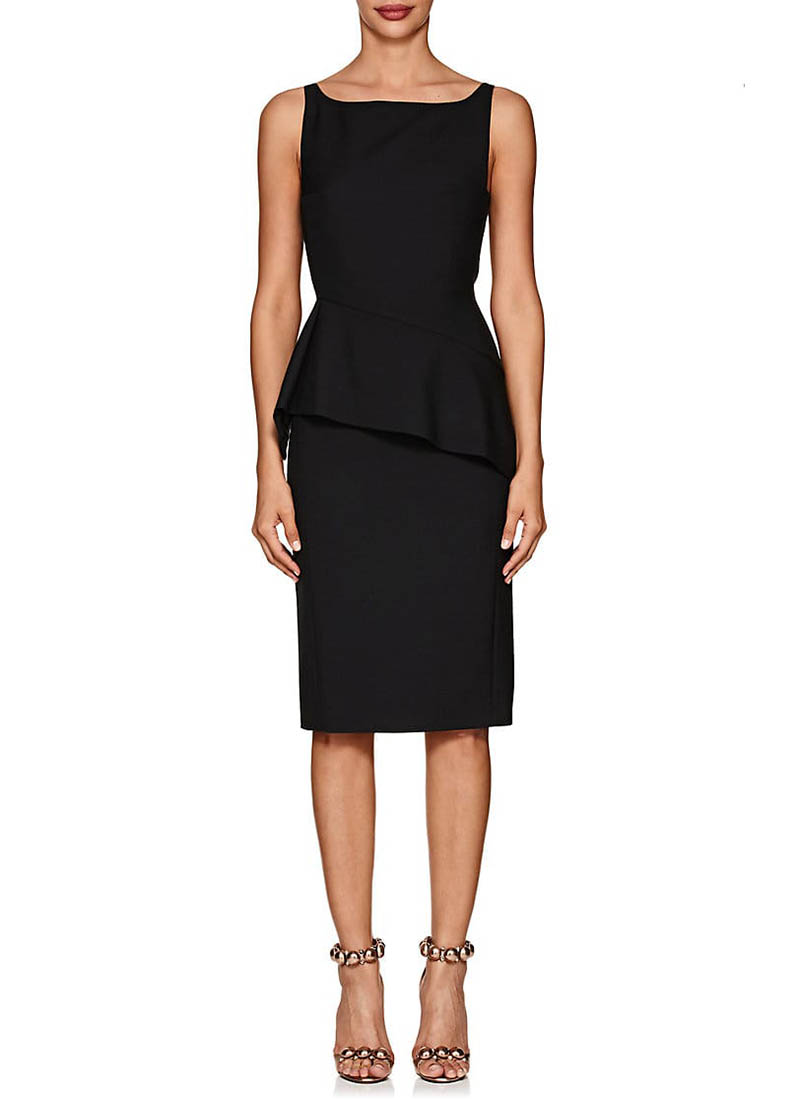 Narciso Rodriguez Wool Fitted Peplum Dress $2,095