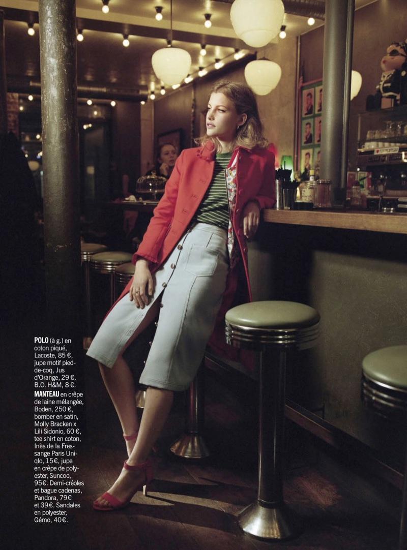 Nienke Kuipers Embraces Sweet 60's Styles for Cosmopolitan France