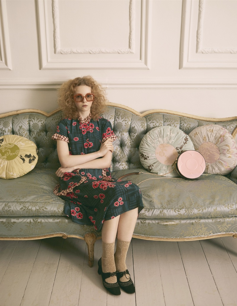 An image from Orla Kiely's spring 2018 advertising campaign