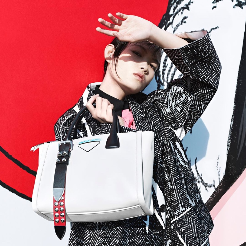 Xie Chaoyu stars in Prada 365 Real Life spring-summer 2018 campaign