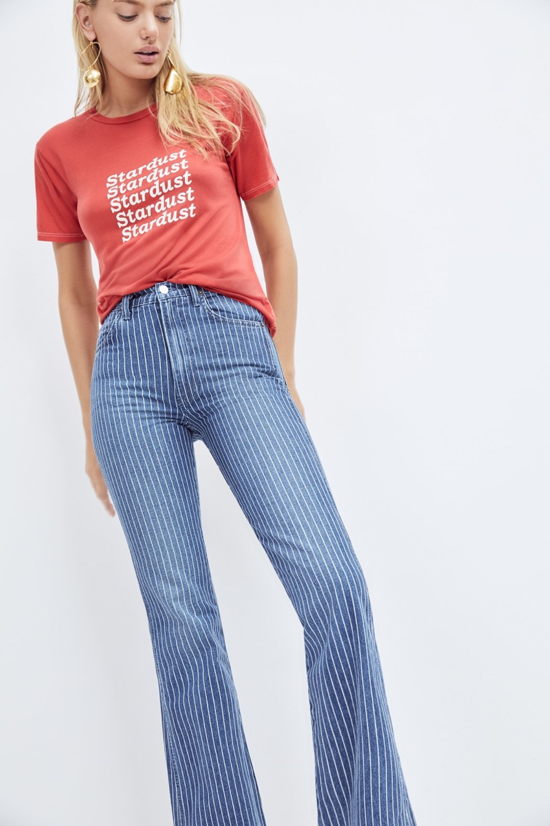 Reformation MacGraw Jean in Mesa Stripe $148
