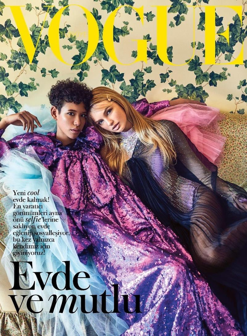 Romee Strijd & Dilone on Vogue Turkey March 2018 Cover