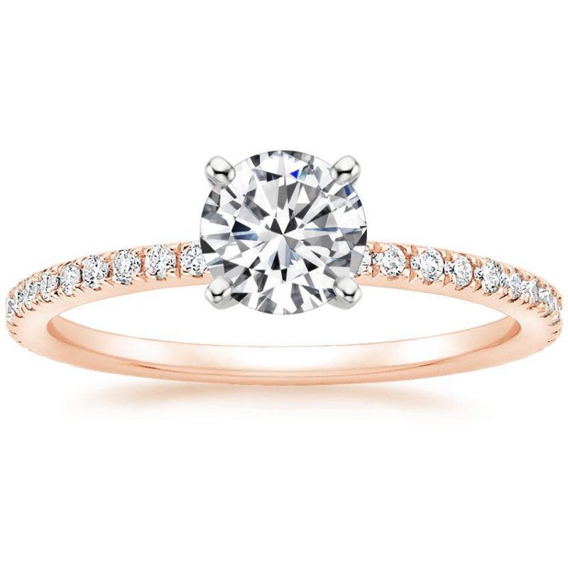 14k Rose Gold Luxe Ballad Diamond Ring 1/4 Ct. Tw.) with 0.30 Carat Round Diamond from Brilliant Earth