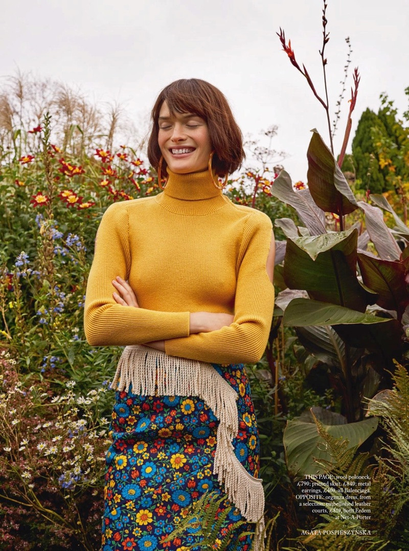 Sam Rollinson Poses in Garden Party Dresses for Harper's Bazaar UK