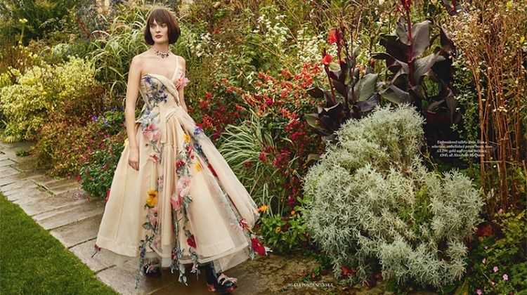 Sam Rollinson Poses in Garden Party Dresses for Harper's Bazaar UK