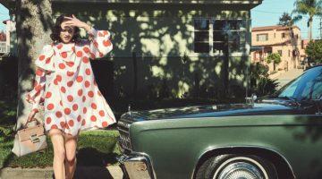 Sarah Brannon Models Retro Prints for Harper's Bazaar Germany