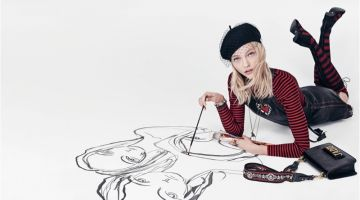 Sasha Pivovarova appears in Dior's spring-summer 2018 campaign