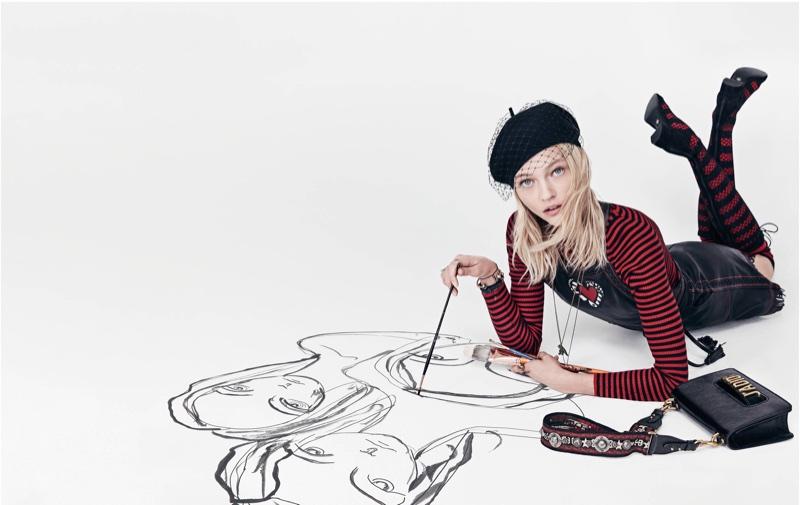 Sasha Pivovarova appears in Dior's spring-summer 2018 campaign