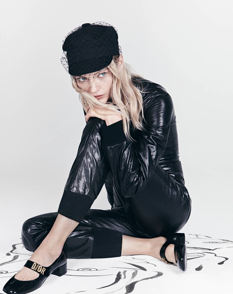 An image from Dior's spring 2018 advertising campaign with Sasha Pivovarova