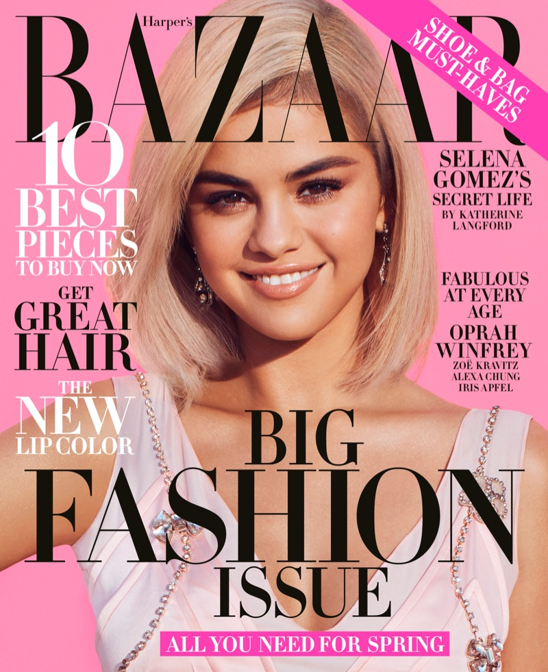 Selena Gomez on Harper's Bazaar US March 2018 Cover
