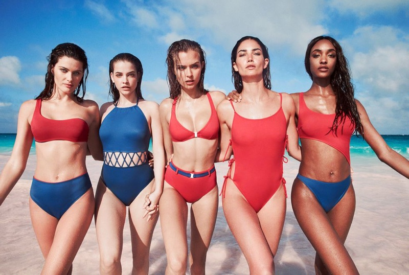 Isabeli Fontana, Barbara Palvin, Josephine Skriver and Jourdan Dunn front Solid & Striped swimwear campaign