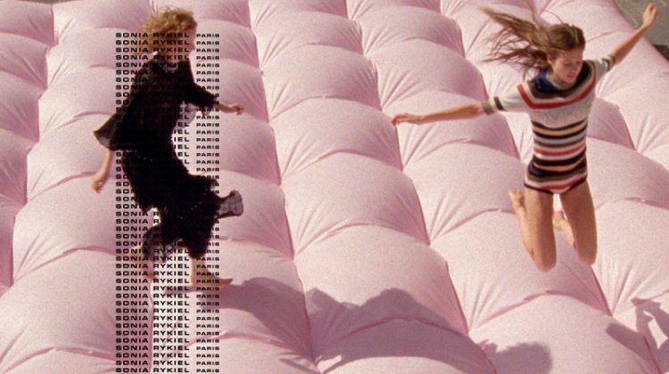 Models jump on a bouncy castle for Sonia Rykiel's spring-summer 2018 campaign