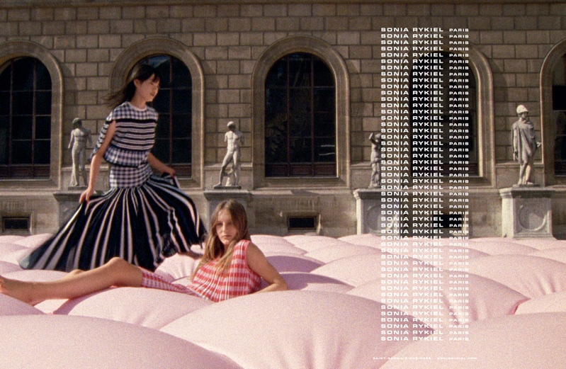An image from Sonia Rykiel's spring 2018 advertising campaign