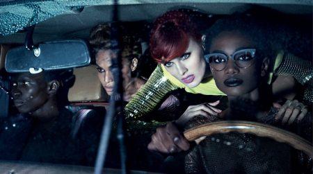 An image from Tom Ford's spring 2018 advertising campaign with Fernando Cabral, Joan Smalls, Karen Elson andImari Karanja