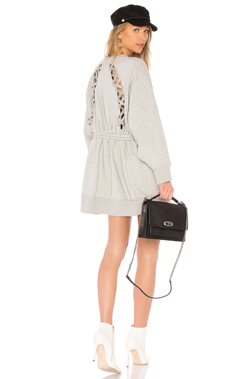 Tommy x Gigi Open Back Sweatshirt Dress $179